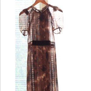 Dolce & Gabbana Browns silk sheer dress size 0 xs
